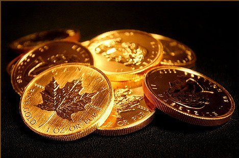 5 Canadian Maple Leaf 1oz. Gold Coins