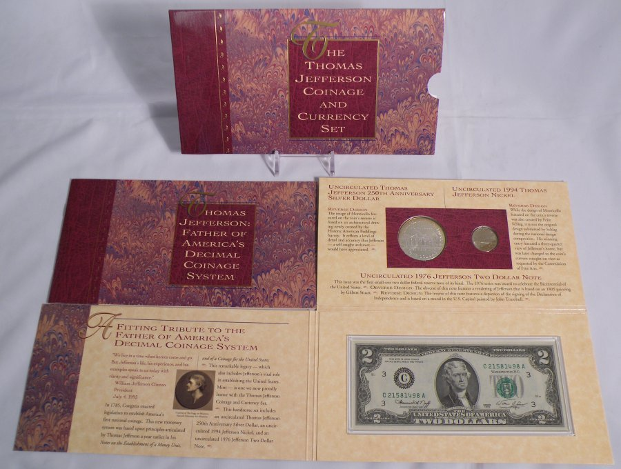 THE THOMAS JEFFERSON COINAGE & CURRENCY SET