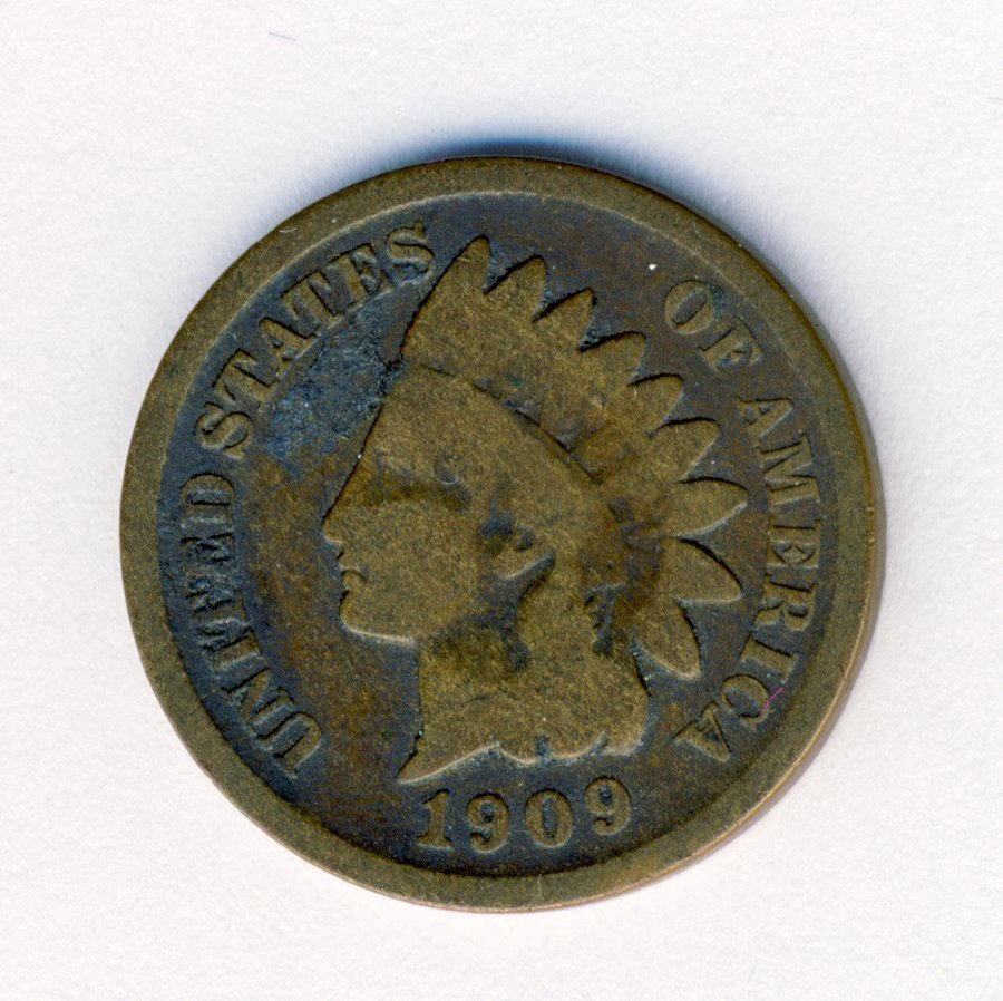 1909-S INDIANHEAD 1C CENT GOOD CONDITION