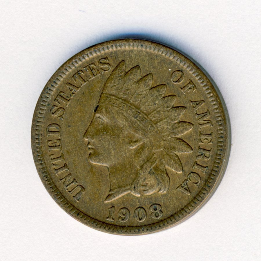 1908-S INDIANHEAD 1C CENT XF CONDITION