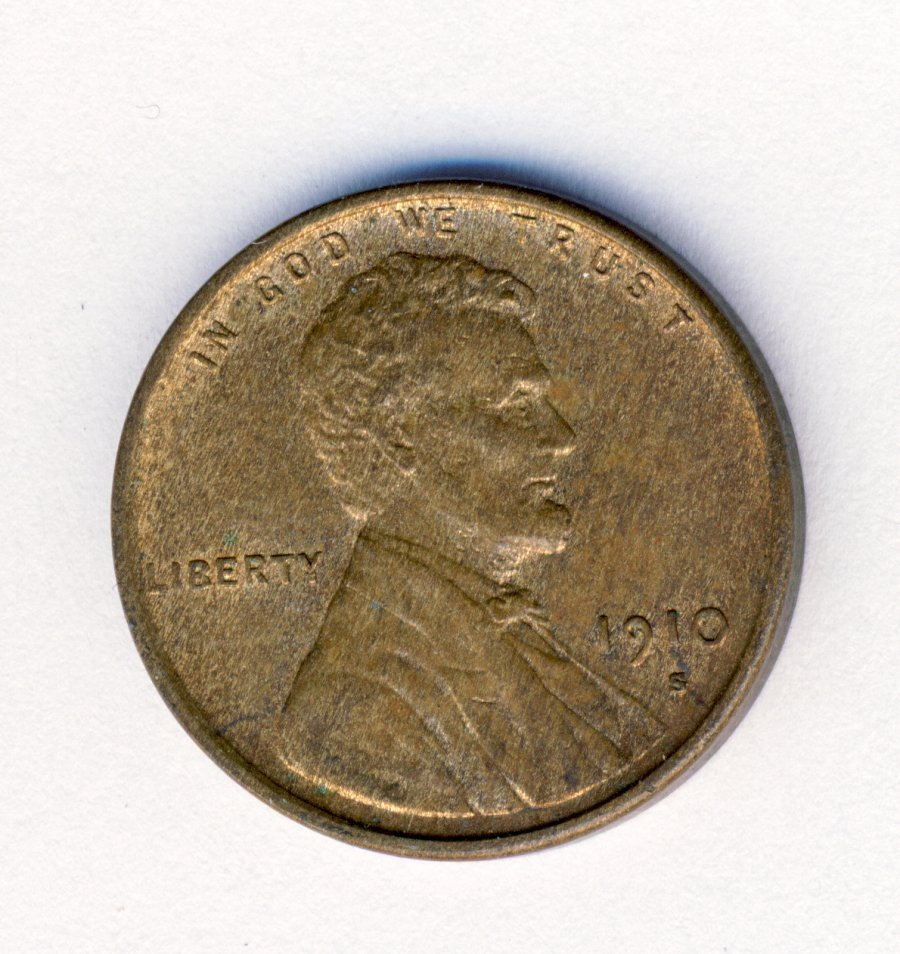 UNCIRCULATED 1910-S LINCOLN CENT