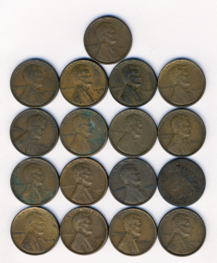 16 MIXED BETTER DATE LINCOLN 1C CENTS
