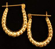 Beautiful pair of 14k Gold Hoop earrings 11g