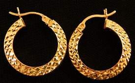 Beautiful pair of 14k Gold Hoop earrings 25g