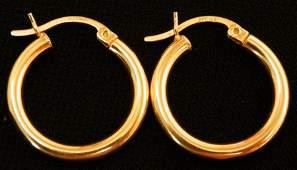 Beautiful pair of 14k Gold Hoop earrings 13g