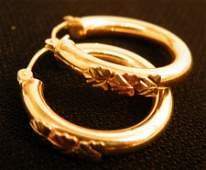 Beautiful pair of 14k Gold Hoop earrings 1.4g