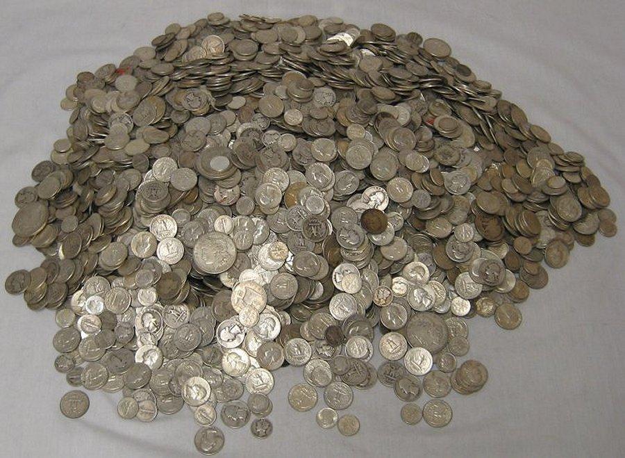 10 LB SHOVEL FULL 90% PRE-65 SILVER US COINS