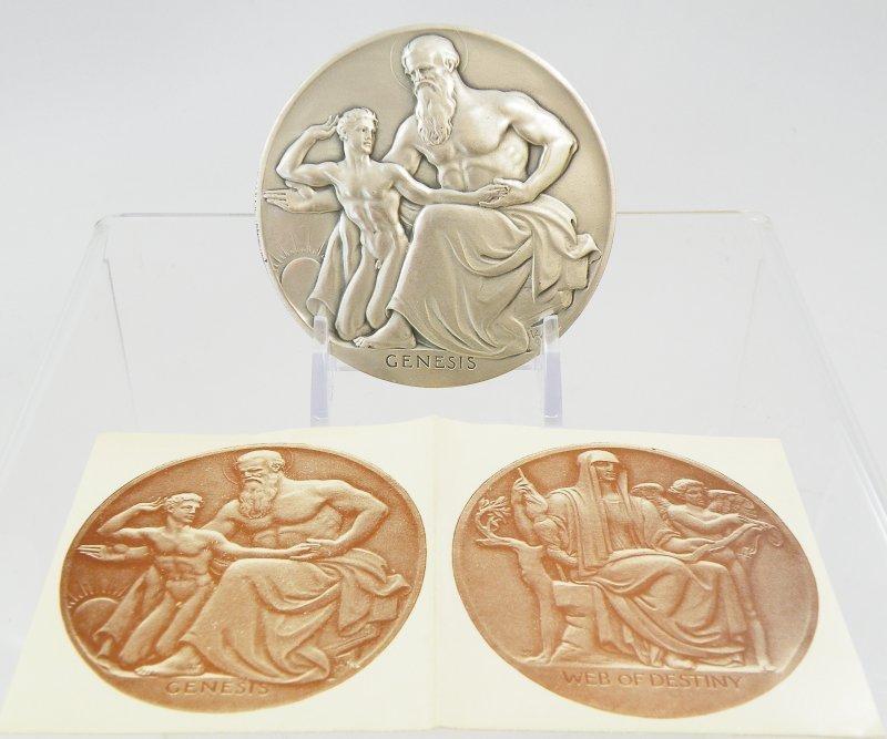 Medals #39 1949 Adolph A. Weinman - Genesis, Destiny
