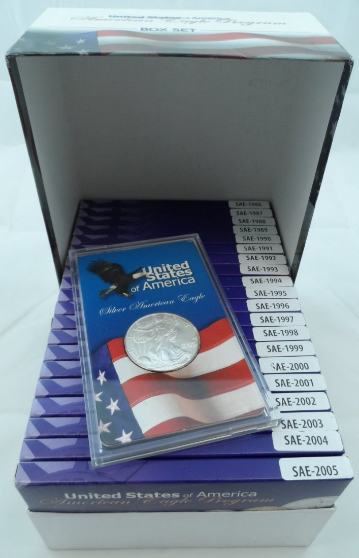 SILVER EAGLE COLLECTION 1986-2005 COMPLETE