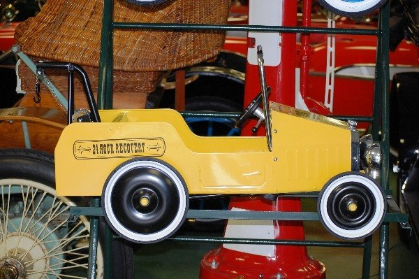 "202: Pedal Car:  Yellow Tow Truck  ""1938"""
