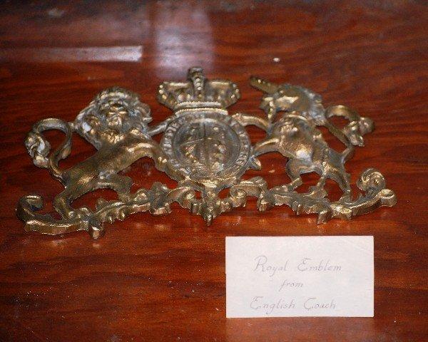 204: Brass Water Pump, Brass Burner, Royal Emblem from