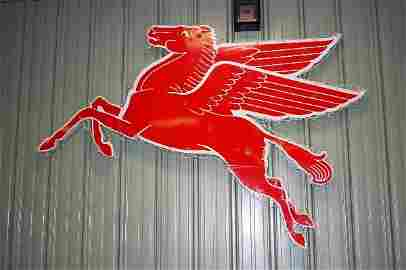 215: Metal Sign:  Mobile Pegasus (Facing Left), Approx