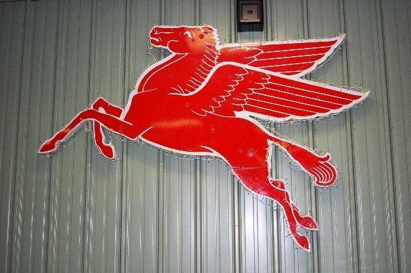 215: Metal Sign:  Mobile Pegasus (Facing Left), Approx