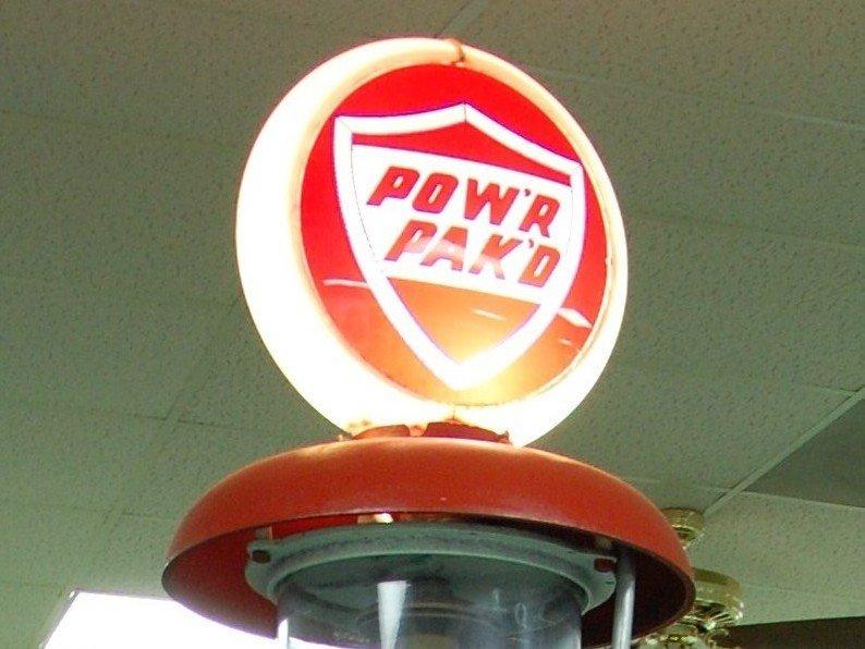220: Vintage Gas Pump:  Ottawa Gas, Globe: Pow'r Pak'd