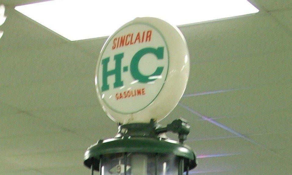 221: Vintage Gas Pump:  Sinclair H-C Gasoline (Green)
