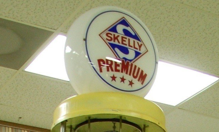 223: Vintage Gas Pump:  Skelly Premium (Red/Yellow Acce