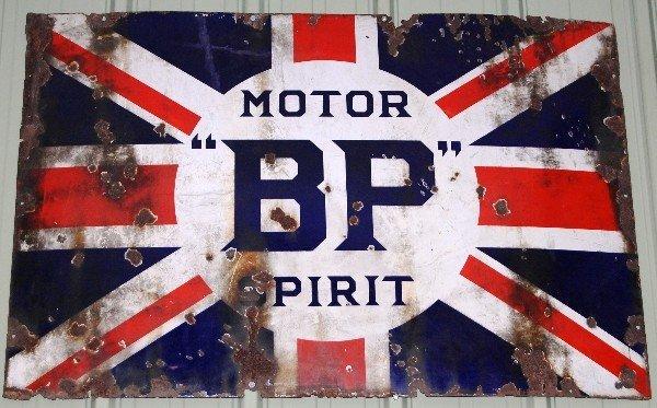 351: Metal Sign:  BP Motor Spirit (Union Jack)