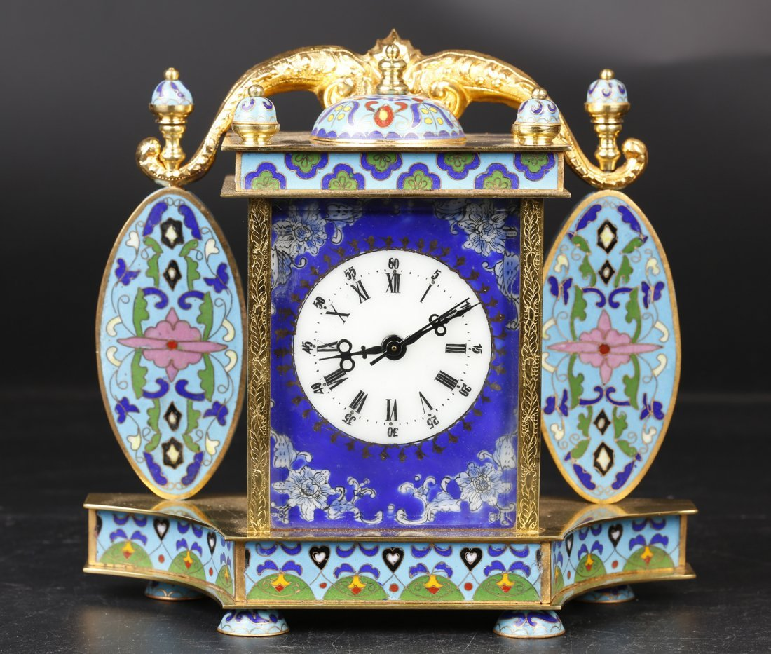 Antique Cloisonne Clock.