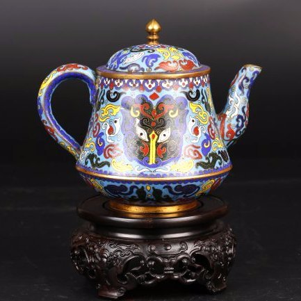 Fine Cloisonne Tea Pot.
