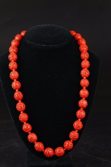 A Natural Angel Face Coral Necklace