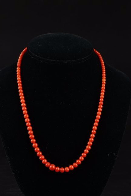 A Natural Baltic Amber Beaded Necklace