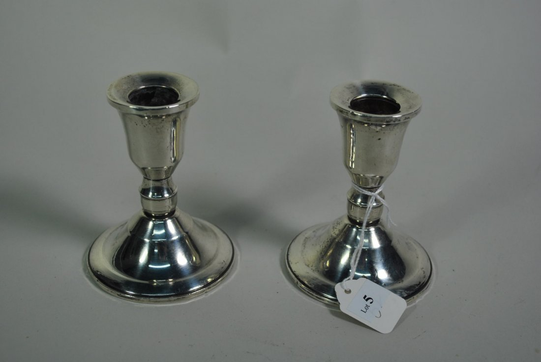 005: STERLING CANDLESTICKS