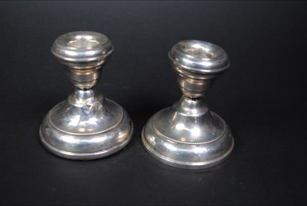006: STERLING CANDLESTICKS