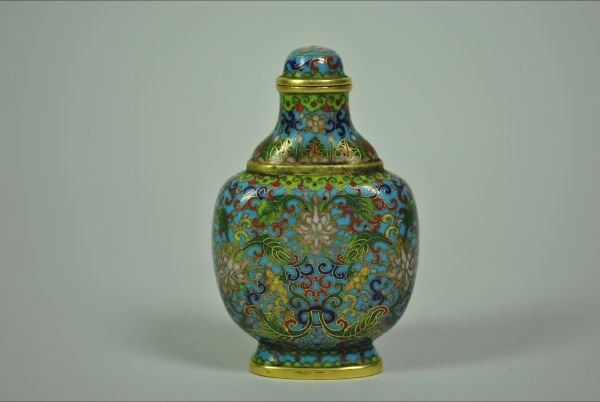 168: CLOISONNE SNUFF BOTTLE