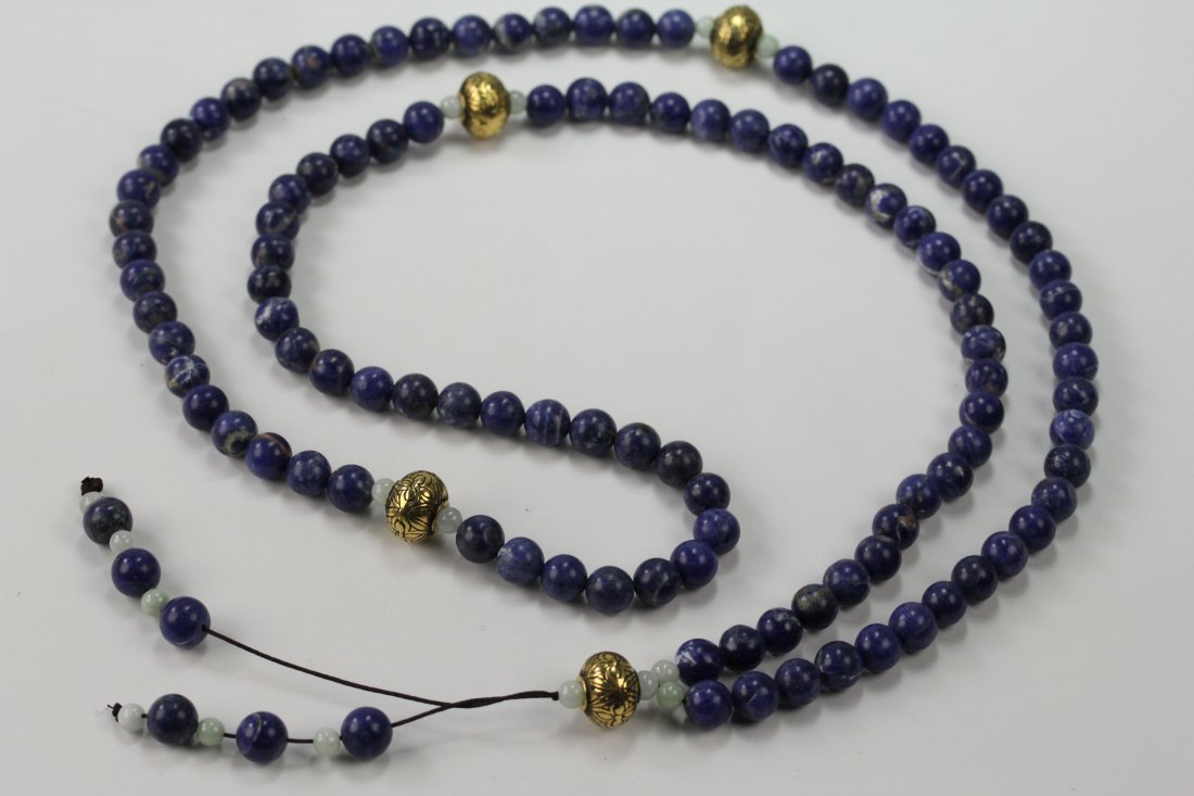 020: Very fine Lapis Buddha beads