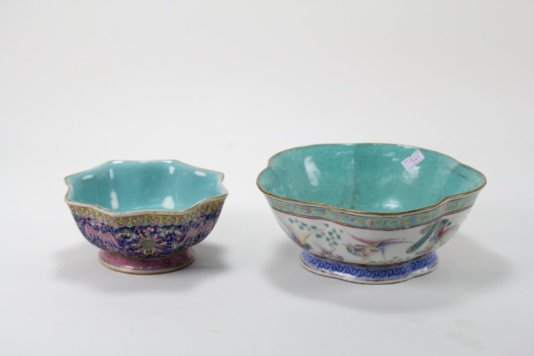 007: Two famille rose bowls