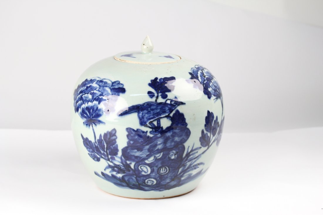 014: Chinese blue and white jar