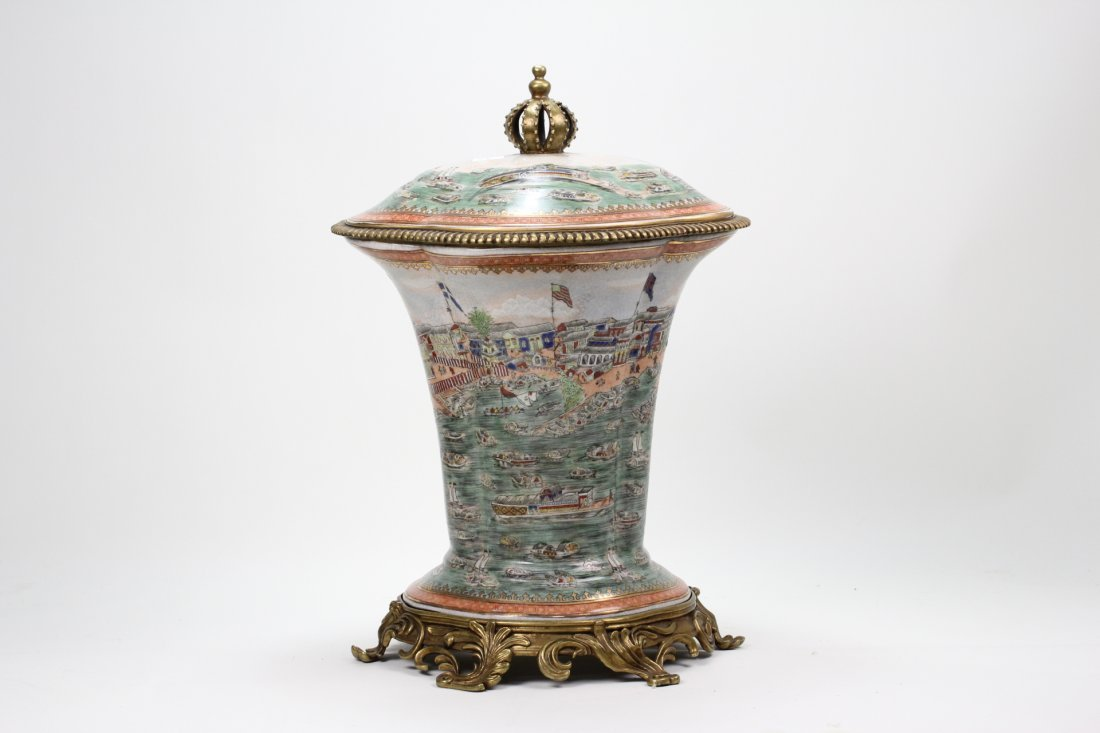 088: Very rare export famille rose porcelain jar 19th