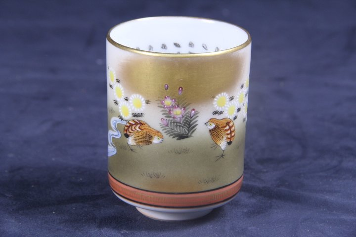 VERY FINE JAPANESE FAMILLE ROSE CUP