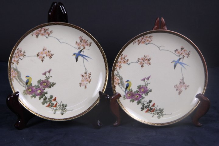 TWO OF JAPANESE FAMILLE ROSE DISH
