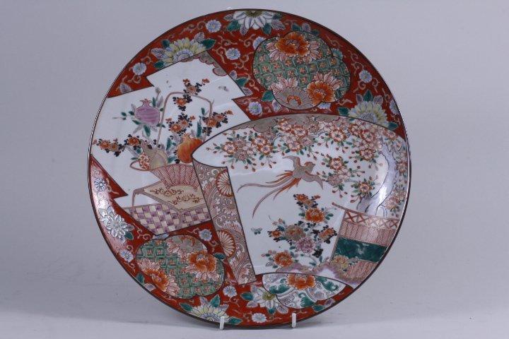 JAPANESE FAMILLE ROSE PORCELAIN CHARGER