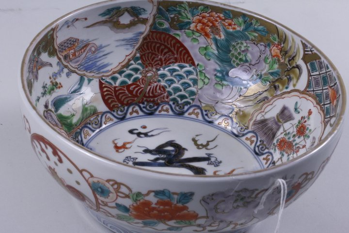 VERY FINE JAPANESE BLUE & WHITE COLOR BOWL