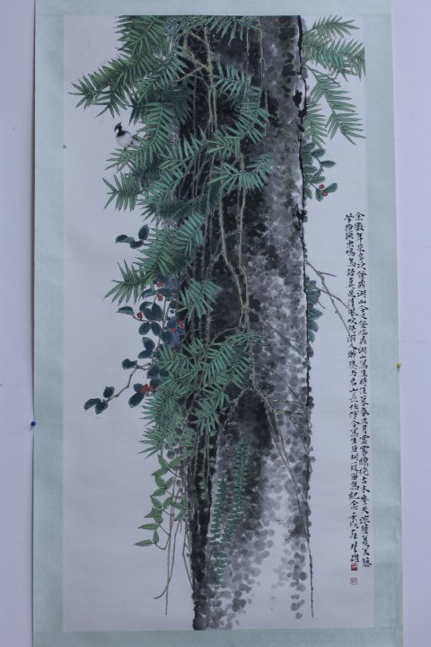 CHINESE TRADITIONAL WATER COLOR PAINTING