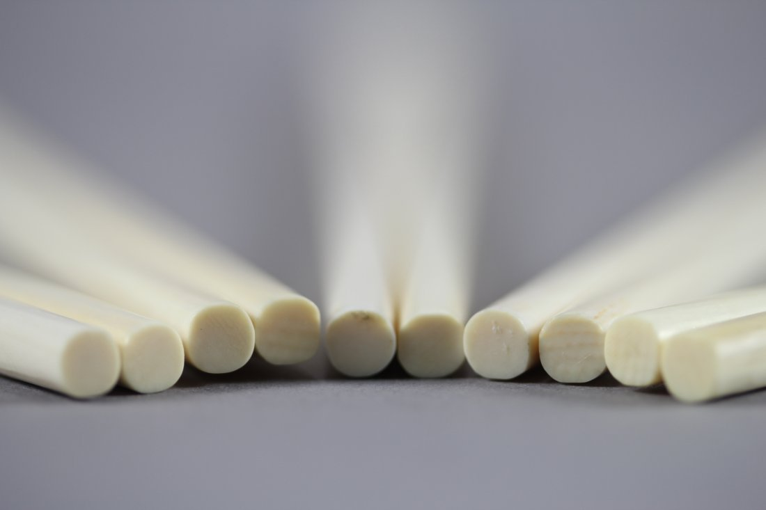 FIVE PAIRS OF IVORY CARVING CHOPSTICKS