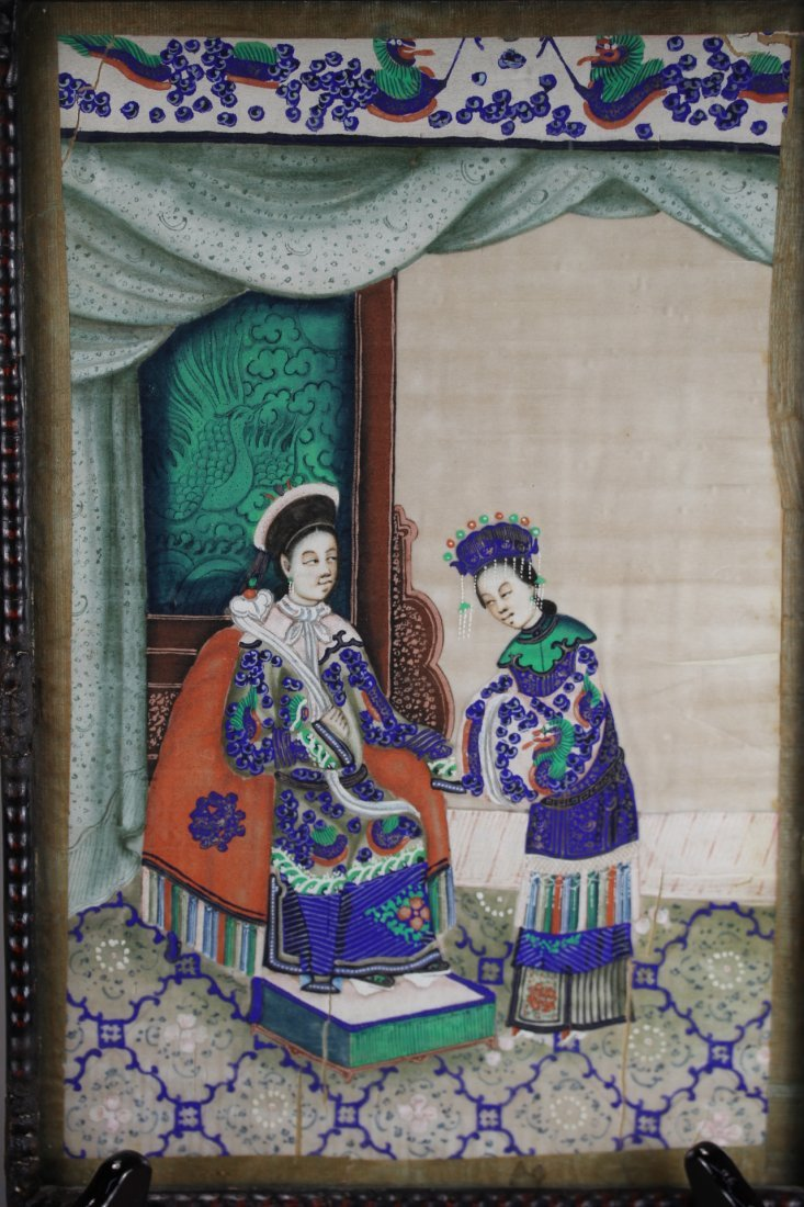 RICE PAPER PAINTING, WITH FRAME.
