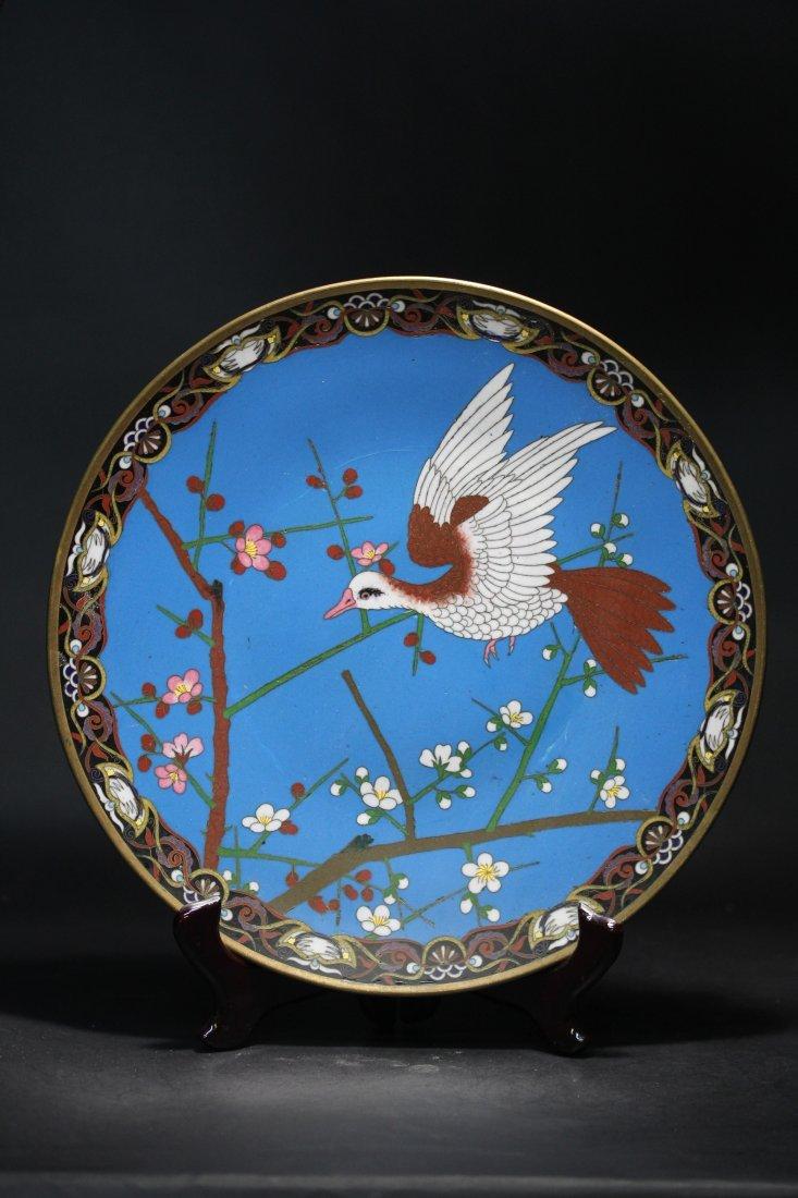JAPANESE CLOISONNE PLATE.