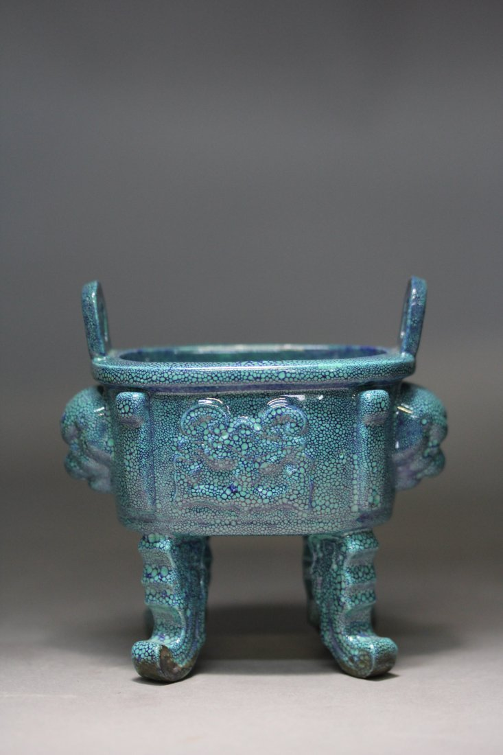 LU JUN GLAZED PORCELAIN CENSER.