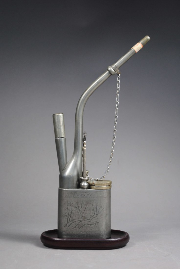 SILVER PLATING COPPER HAND-CHISELED HOOKAH.