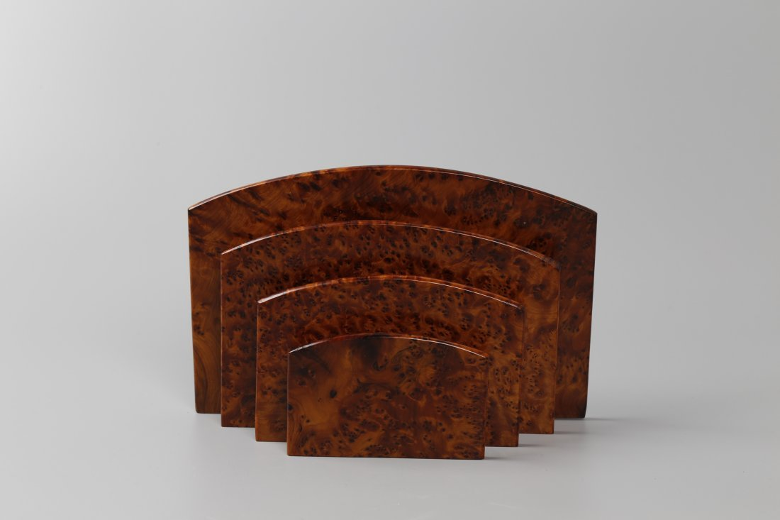 Western Style Burl Wood Document Holder.