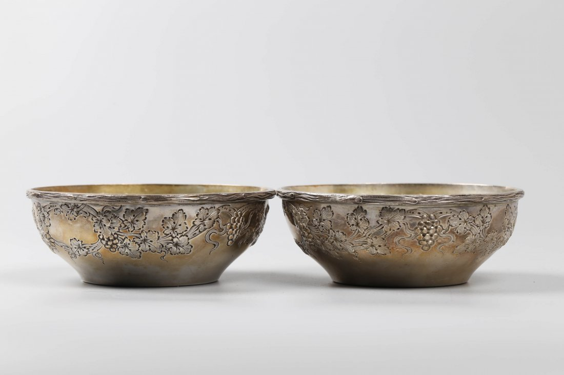 Pair of Sterling Bowls, Marked.