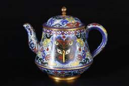 Delicate Cloisonne Tea Pot.