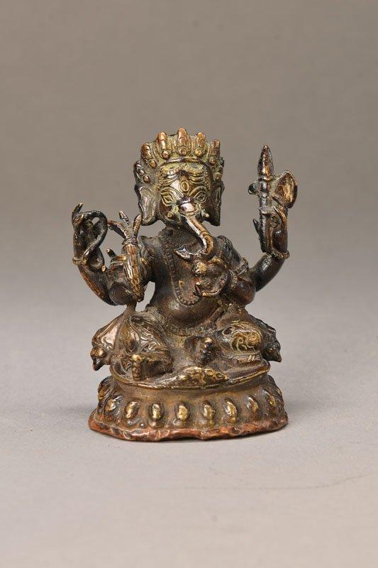A Bronze Figure Of Buddha Ganesha.
