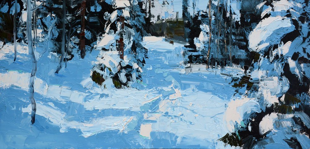Snowshoe Tracks, by Silas Thompson