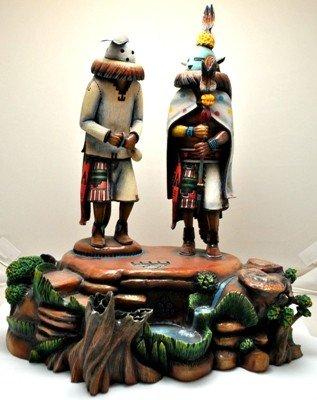 3: Hopi Global Warming Cottonwood Kachina - Sterling