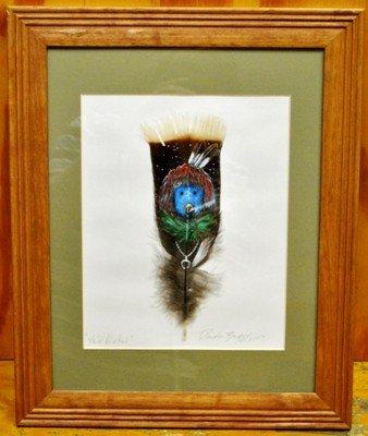 9: Navajo Talking God Kachina Feather Painting - Ye'i