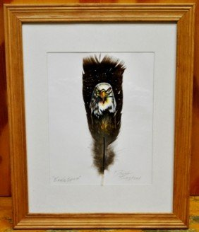Navajo Eagle Feather Painting - Eagle Spirit - Don